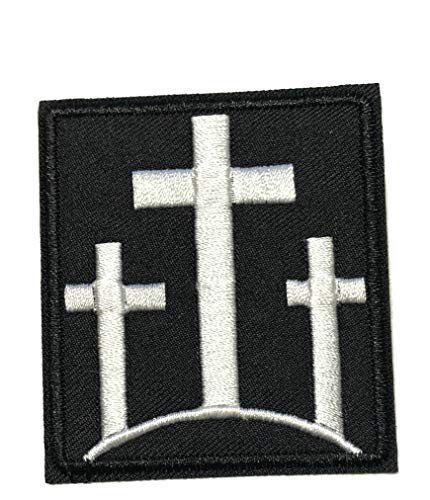 Crosses Veteran Embroidered Patch Tactical Military Morale Biker Motorcycle Quote Saying Humor Series Iron or Sew-on Emblem Badge Appliques Application Fabric Patches