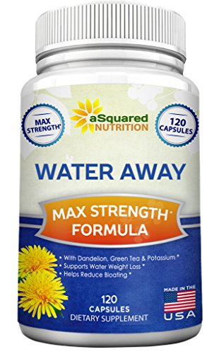 Water Away Diuretic (120 Capsules) - Herbal Water Pills for Healthy Weight Loss & Water Balance, Natural Diuretics Supplement with Dandelion, Potassium & Green Tea - Relieve Water Retention & Bloating