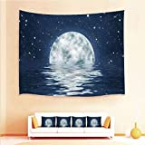 Drum End Table Sale iPrint 1pcs Hanging Tapestry 4pcs Pillow case,Wall Hanging Blanket Beach Towels Picnic Mat Home Decor Waves Night Sky Stars End The Evening,3D Printed Tapestry Bedroom Living Room