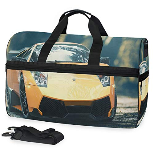 Gym Bag Ferrari Yellow Car Sport Travel Duffel Bag for sale  Delivered anywhere in USA