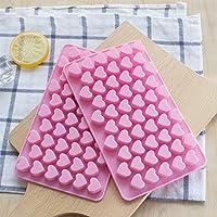 Dee Plus 2 piezas molde de silicona corazón cubo de hielo de ...