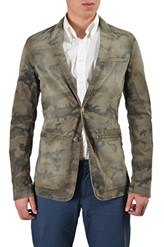 Distressed Blazer (Versace Jeans Men's Multi-Color Distressed Sport Coat Blazer US 38 IT)