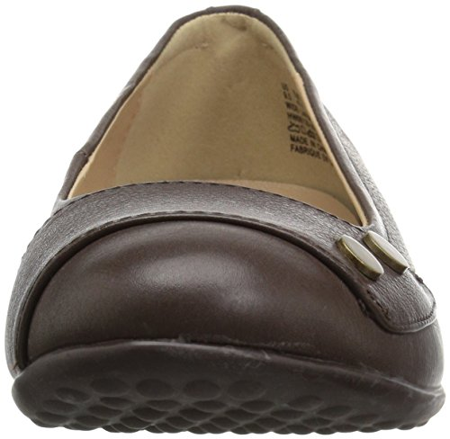 Hush Puppies Mujeres Lara Bria Slip-on Loafer Dark Brown