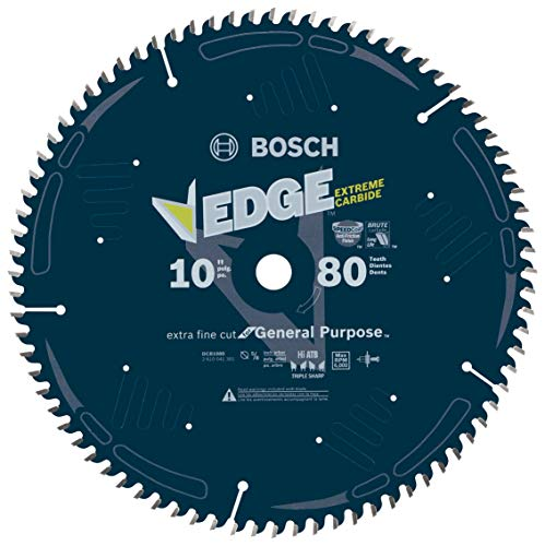 Bosch DCB1080 Daredevil10-Inch 80-Tooth Extra-Fine Finish for Melamine and Finished Plywood Circular Saw Blade ()