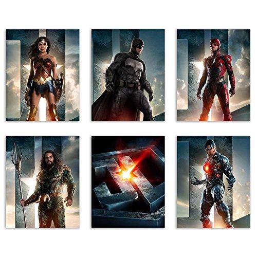 Justice League  Epic Poster Prints - Set of Six DC Comics Mo