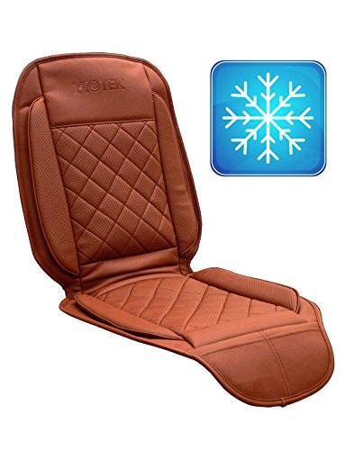 Viotek Tru-Comfort Climate Controlled Auto Seat Cushion with Intelligent Cooling (Brown)