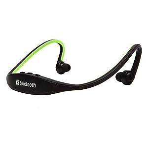 Sikye Wireless Bluetooth Music Sports Stereo Headset Headphone for iPhone (Green)