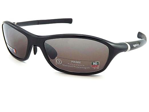 8afb30d44976c5 Étiquette HEUER Lunettes de soleil pour homme 27° TH6001 604 Noir  brillant Prime Prune