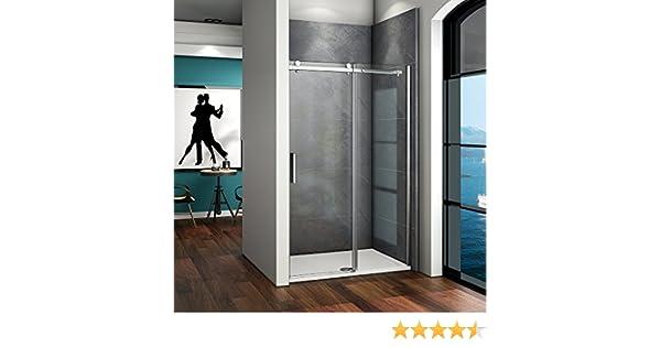 Mampara de Ducha Frontal Puerta Corredera Cristal Templado Antical/Easyclean 6 MM 100x195cm: Amazon.es: Bricolaje y herramientas
