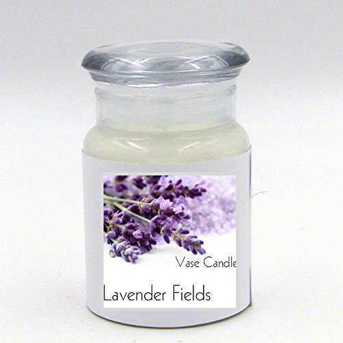 2 Lavender Fields Jars | Vase Candle | 60 Hour Burn Time | Premium Soy Paraffin Wax Blend | Highly Scented | Self-Trimming Wick Fields Jar Candle