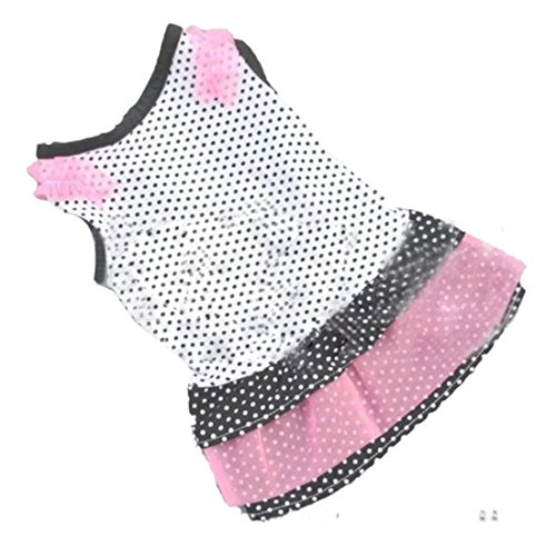 [Pet Dress,Hemlock Pet Clothing Dog Dot Skirt Puppy Princess Dress (S, White)] (Wholesale Dog Ornaments)