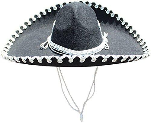 Charro Sombrero (Authentic Mariachi Flowers Style Hat Fancy Premium Mexican Sombrero Charro Hats Made in Mexico (Choose Size & Color) (Adult Men, Cherry/Silver))