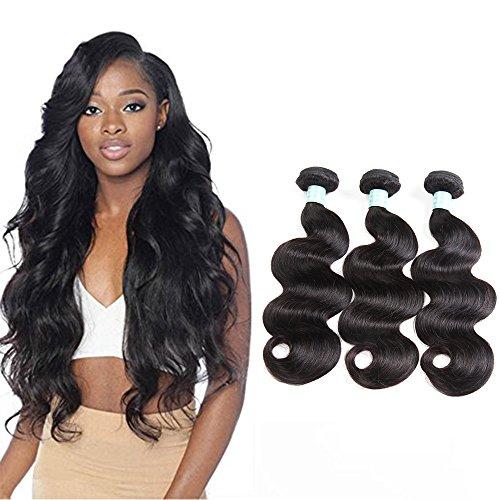 SiJi Mei Brazilian Hair 3 Bundles Body Wave Human Hair extensions body wave 300g Mixed Length (12 14 16)