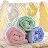 Baby Wash Clothes Cotton, Natural Organic Muslin Cotton for Baby Reusable Wipes. 5 Pack 12 x20 Inches. Ideal for Shower gift. (New Arrivals)