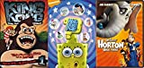 Dr. Seuss, Sponge Bob & King Kong Animted Collection - Horton Hears a Who! Who Bob What Pants? & Ten Time as Big as a Man 3-DVD Bundle