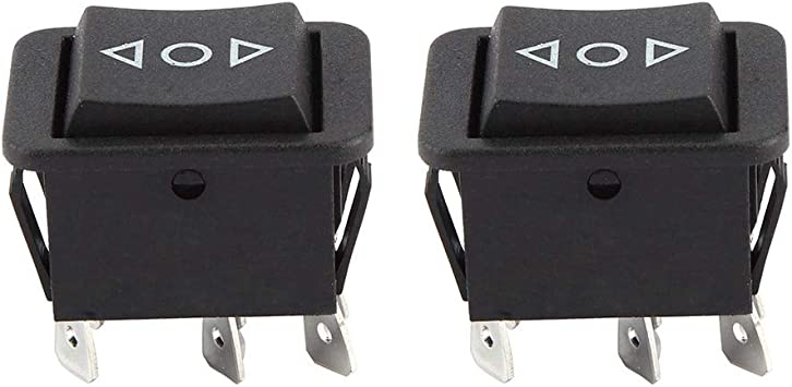 1 4pcs 1.3in Black 32mm//1.3 25 Rocker Switch,6 Pin PVC Plastic ON//OFF Momentary Toggle Rocker Switch for Automobiles Motorcycles Boat,33