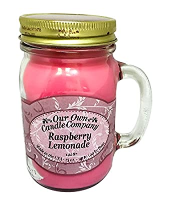 Raspberry Lemonade Scented 13 Ounce Mason Jar Candle By Our Own Candle Company