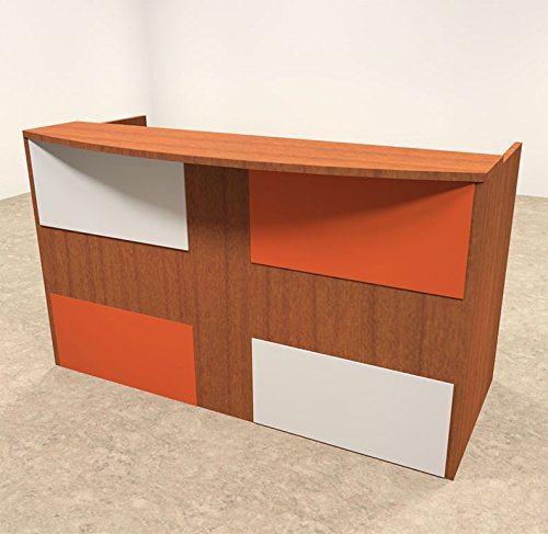 2pc Rectangular Modern Acrylic Panel Office Reception Desk, #OT-SUL-RM37 by UTM