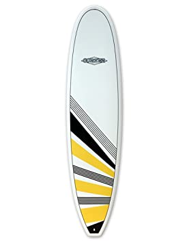 Cortez tablas de surf Funboard tabla de surf 7 ft 6 – amarillo/negro