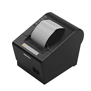 Aibecy GOOJPRT JP-58DC Impresora térmica de Recibos 58 mm Papel de impresión térmica necesaria Función de Corte automático de Papel Impresoras ...