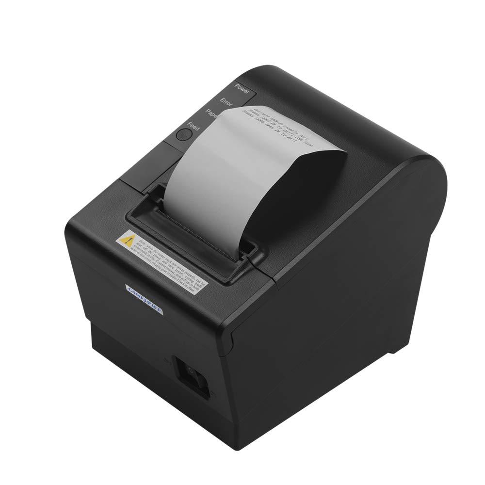 Aibecy GOOJPRT JP-58DC Thermal Receipt Printer 58mm Thermal Print Paper Needed Automatic Paper Cutting Function Desktop Thermal Receipt Printers USB+BT