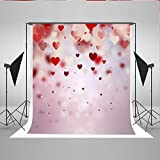 5x7ft Valentine'S Day Backdrop Photography Red Love Suspension Romantic Bcakground Photo Studio Props Kate MR-0048