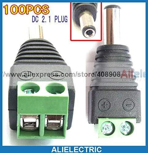 Gimax 100pc 5.5mm x 2.1mm DC Power Plug Terminals to CCTV CD Notebook