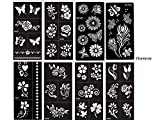 Tattoo Stencil Butterfly and Flowers Template Set of 8 Sheet Florence