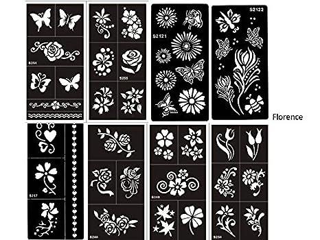 Beyond Juego De Plantillas 8 Hojas Con Flores Y Diseños De