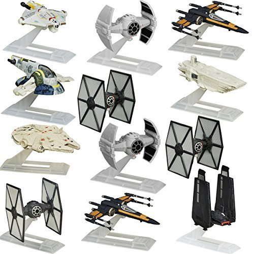 Star Wars (Set of 12 Black Series Titanium Spaceships Models Vehicles Hasbro Toys Figures ()
