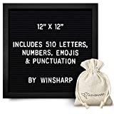 """Black Felt Letter Board 
