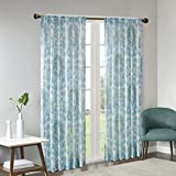 Best Home Back Tab Curtains - Rod Pocket Grey Curtains Living Room, Arden Print Review