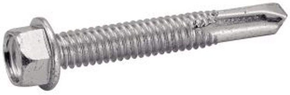 250 Stk 5.5x38 Stahl wei/ß verzinkt langer Bohrspitze N4 Bohrschrauben Sechskant m