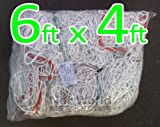 Kids / Child Size Soccer Goal Net - 6x4 / 6' x 4'HEAVY DUTY (Choice Of Single Or Pair) (SINGLE - 1x Net)