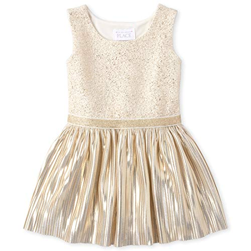 The Children's Place Baby Girls Sleeveless Jacquard Dress, Little Lamb, 4T (Best Places For Dresses)