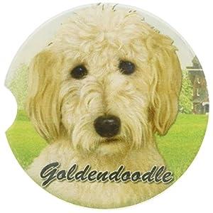 E&S Pets Goldendoodle Coaster, 3″ x 3″