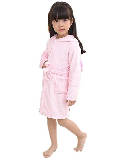 VineCrown Baby Kids Bathrobes Unicorn Robe with Hooded Children Bath ...
