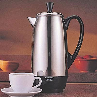 New Farberware Fcp412 Stainless Steel 4 To 12 Cup Electric Perculator 6207625 by Farberware