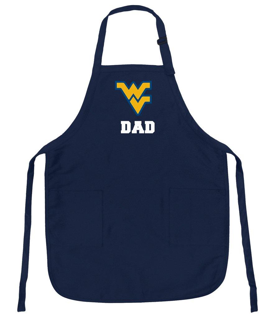 West Virginia University DadエプロンStainリリースWVU Dadエプロン   B01MDQVIXR