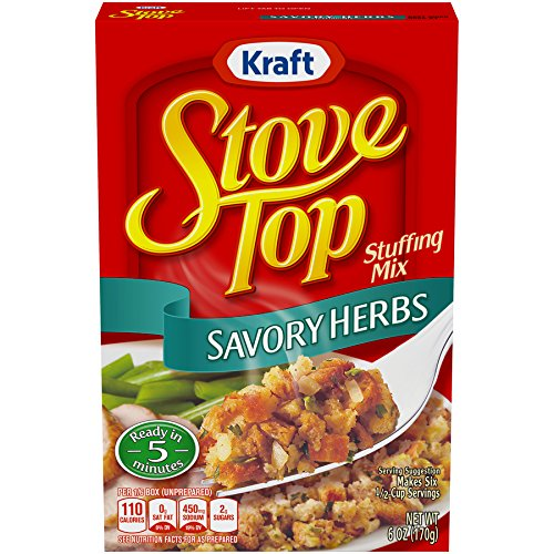Stove Top Stuffing Mix, Savory Herb, 6 Ounce Box