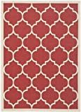 Red Rug Safavieh Courtyard Collection CY6914-248 Red and Bone Indoor/ Outdoor Area Rug (4' x 5'7