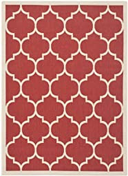 Safavieh Courtyard Collection CY6914-248 Red and Bone Indoor/ Outdoor Area Rug (4\' x 5\'7\