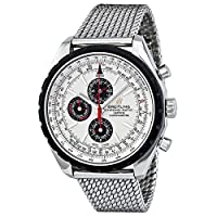 Breitling Chrono-matic 1461 Automatic Chronograh Silver Dial Mens Watch A1936002-G683SS