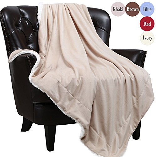 Sherpa Blankets Throws Faux Furs Fleeces Youth Mens Winter Boyfriends Valentines Fuzzy Soft Warm Plush Fluffy Pretty Washable Cozy TV Blanket, Travel Size 50x60 Solid Taupe