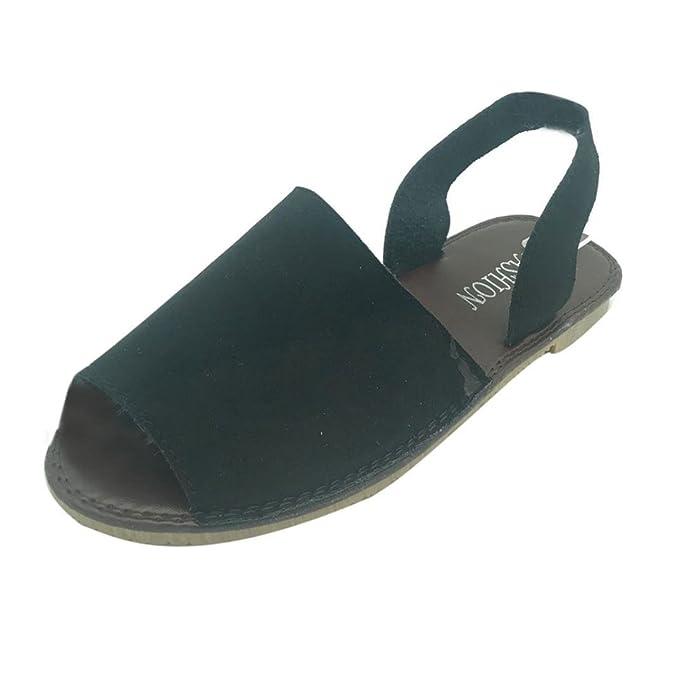 Sandalias mujer verano 2018, Covermason Sandalias planas de las señoras planas sandalias planas para vacaciones: Amazon.es: Ropa y accesorios