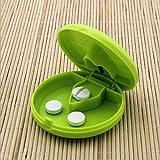 SOURBAN Pill Caplets Medicine Dose Tablet Cutter Splitter Divide Compartment Storage Box