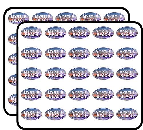Oval Myrtle Beach (South Carolina East Coast) Sticker for Scrapbooking, Calendars, Arts, Kids DIY Crafts, Album, Bullet Journals