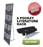 Signworld 8-Pocket Fabric Mesh Roll Up Literature Rack Display