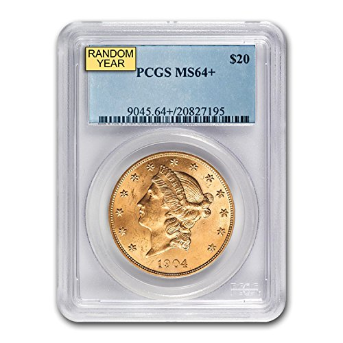1850 – 1907 $20 Liberty Gold Double Eagle MS-64+ PCGS (Random) G$20 MS-64 PCGS