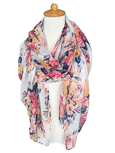 GERINLY Lightweight Scarves Fashion Flowers product image